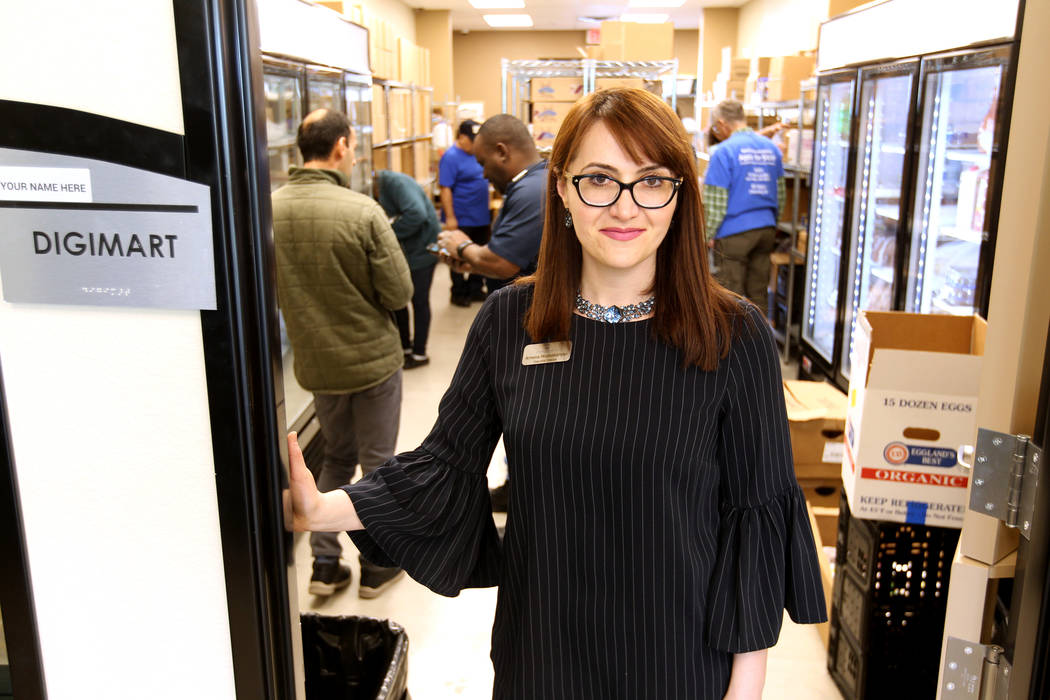 Armena Mnatsakanyan, executive director for Lutheran Social Services of Nevada, at the nonprofit's DigiMart at their new $3.75 million headquarters at 4323 Boulder Highway in Las Vegas Monday, Mar ...