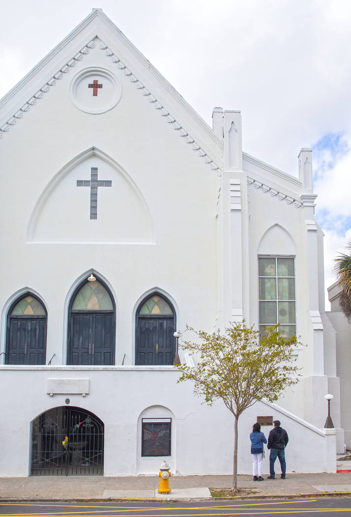 Public and media attention have calmed since Dylann Roof shot and killed 9 people inside Emanuel African Methodist Episcopal Church on June 17, 2015. Photo taken on Wednesday, March 21, 2018, outs ...