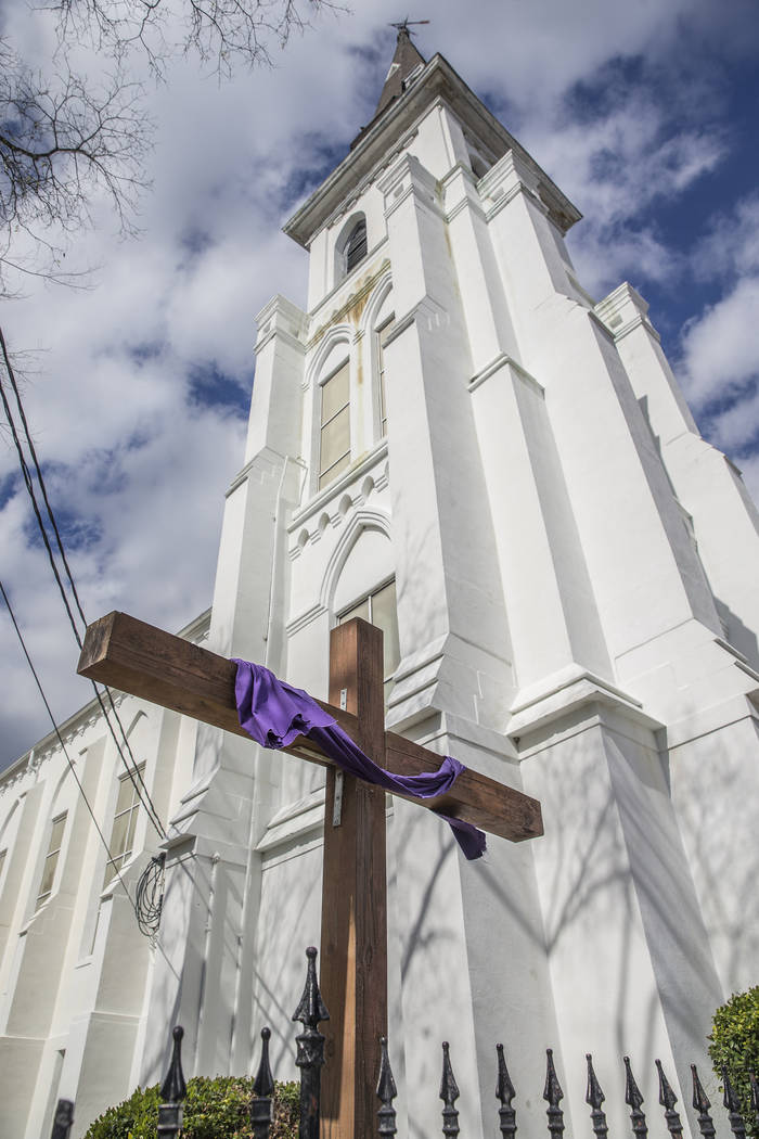 The Emanuel African Methodist Episcopal Church on Wednesday, March 21, 2018, in Charleston, SC. Dylann Roof shot and killed 9 church members on June 17, 2015. Benjamin Hager Las Vegas Review-Journ ...