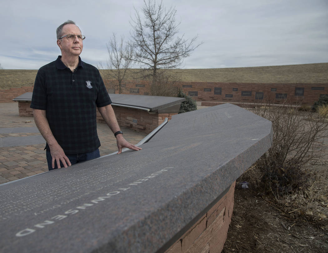 Rick Townsend, president of the Columbine memorial board, lost his daughter Lauren during the Columbine school shooting on April 20, 1999. Photo taken at the Columbine Memorial on Wednesday, March ...
