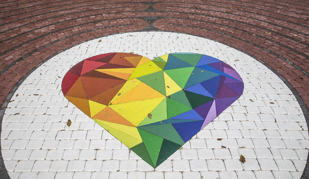 A memorial labyrinth unveiled in December honoring the 49 people killed during the Pulse nightclub shooting on June 12, 2016. Photo taken on Monday, March 19, 2018, at Colonialtown Square Park, in ...