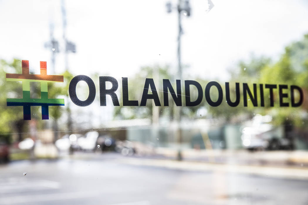 The hashtag #Orlandounited was one of the major symbols of unity and hope following the Pulse nightclub shooting. Photo taken on Monday, March 19, 2018, at Dunkin' Donuts across the street from Pu ...