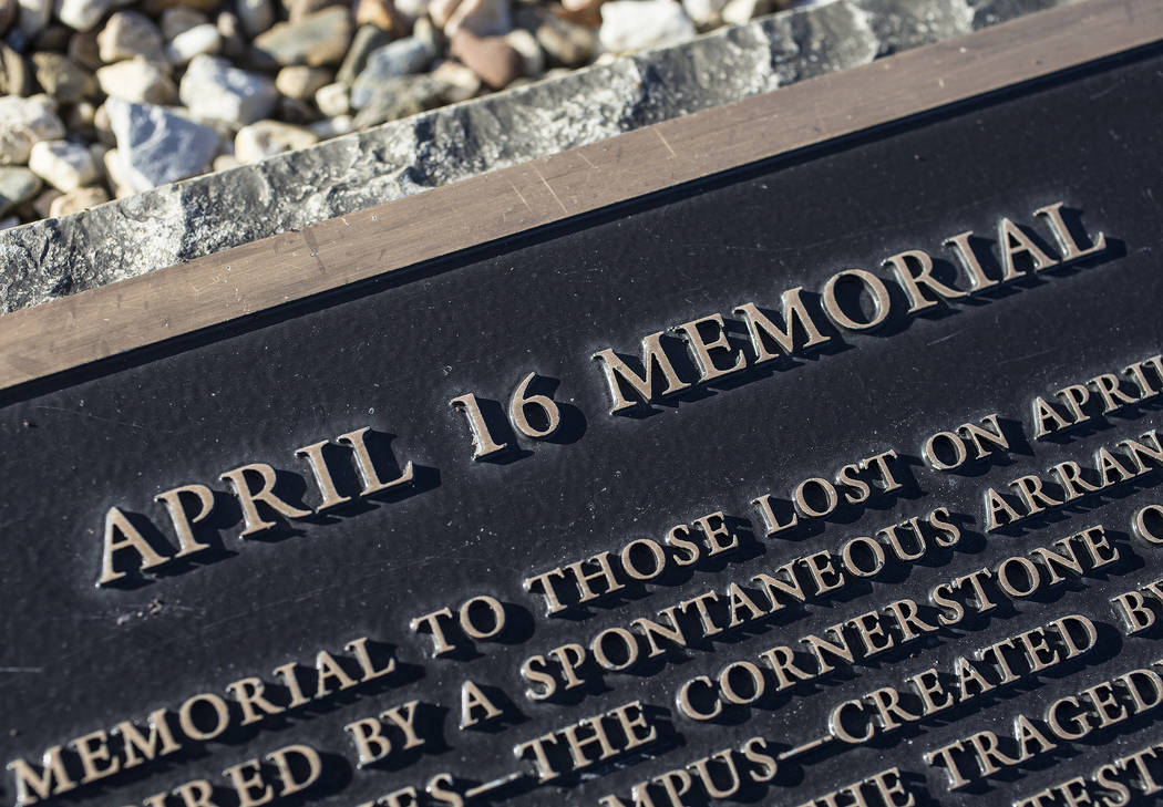 The April 16 Memorial on Thursday, March 22, 2018, at Virginia Tech University, in Blacksburg, VA. Seung-Hui Cho shot and killed 32 people and wounded 17 on the campus of Virginia Tech on April 16 ...