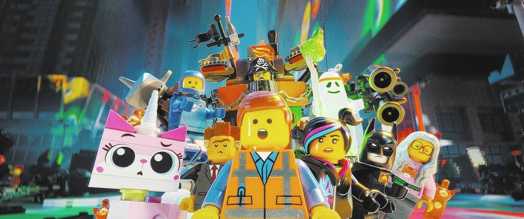 LG-FP-228 Film Name: THE LEGO® MOVIE Copyright: (C) 2014 WARNER BROS. ENTERTAINMENT INC. Photo Credit: Courtesy of Warner Bros. Pictures Caption: (Clockwise l-r) LEGO® characters Uni ...