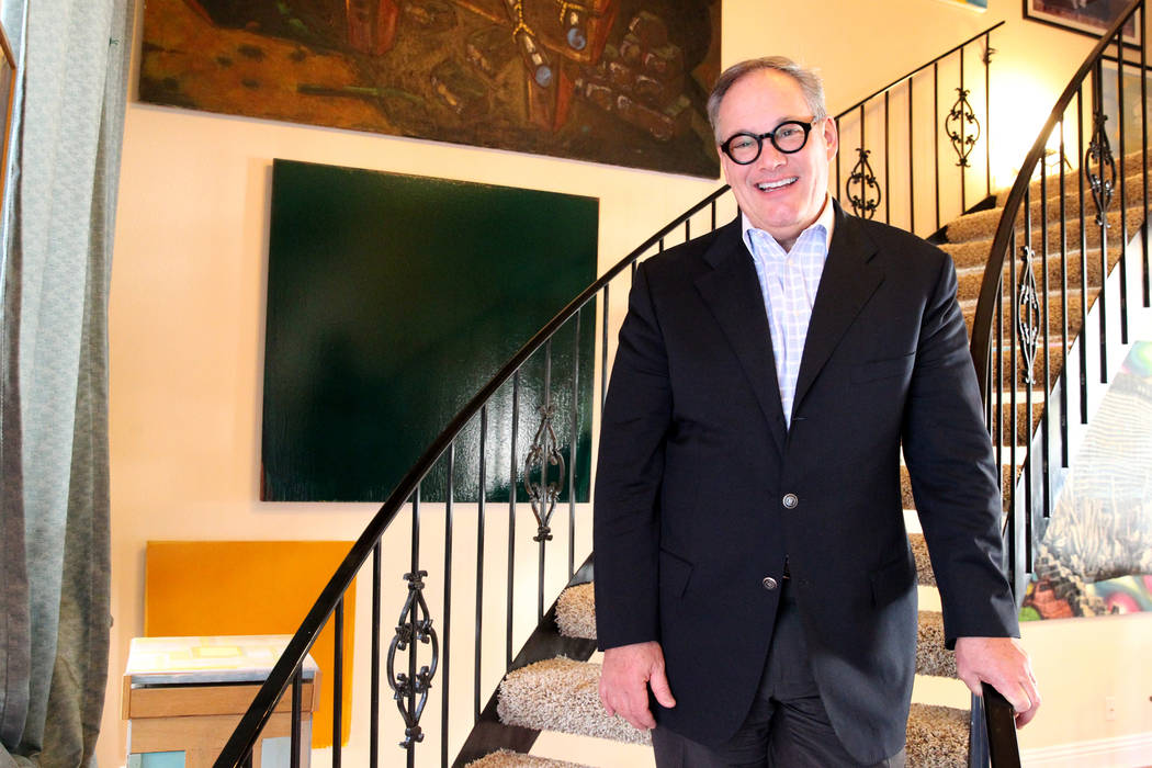 Patrick Duffy, longtime local art collector and newly appointed CEO of the Nevada School of the Arts, at his Las Vegas home Wednesday, April 4, 2018. K.M. Cannon Las Vegas Review-Journal @KMCannon ...