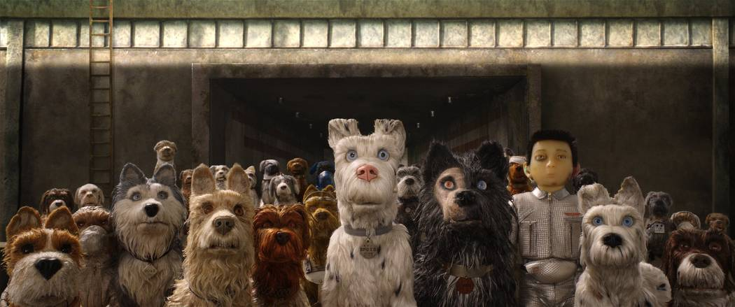 "(From L-R): Bill Murray as ""Boss,"" Jeff Goldblum as ""Duke,"" Edward Norton as ""Rex,"" Bob Balaban as ""King,"" Liev Shreiber as ""Spots,"" Harvey Keitel as ""Gondo,"" Koyu Rankin a ..."