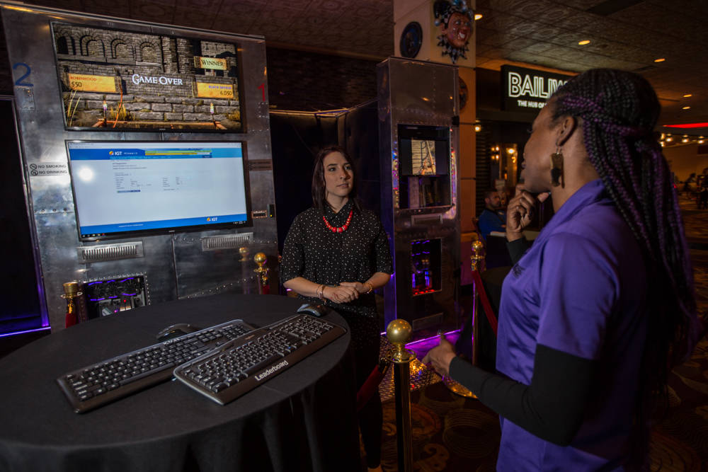 A Boyd employee gets ready to demontrate IGT's new virtual-reality game on Friday, March 23, 2018, at The Orleans in Las Vegas. Todd Prince Review-Journal