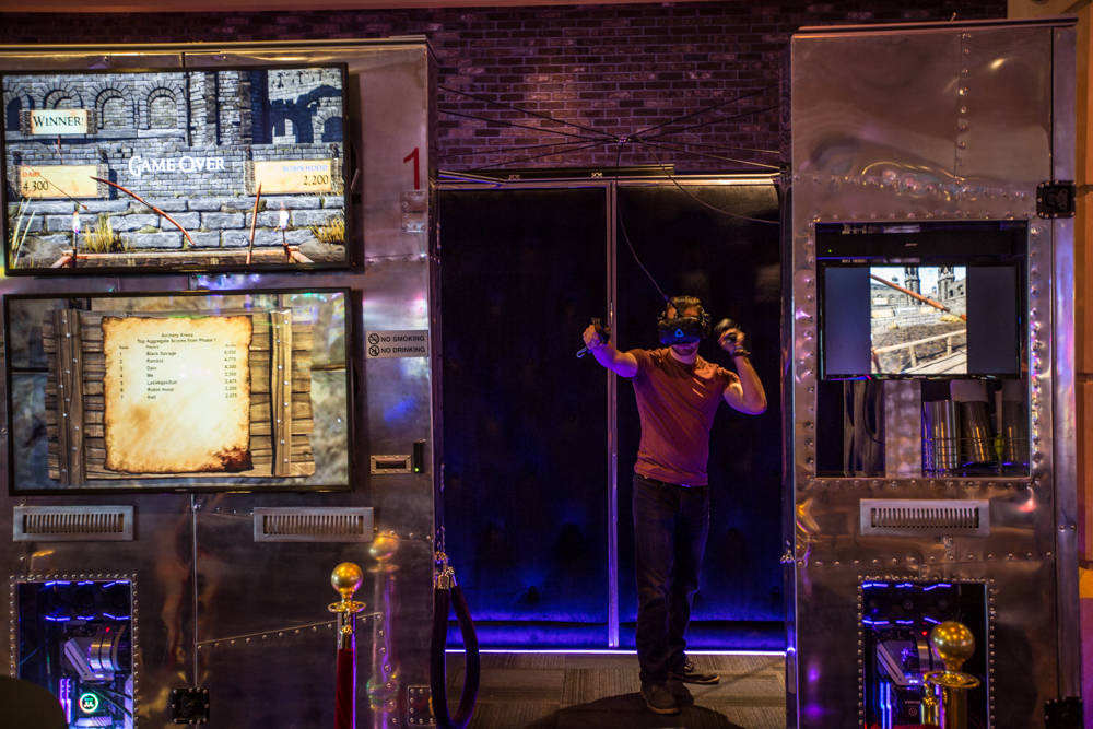 A Boyd employee gets ready to demonstrate IGT's new virtual-reality game on Friday, March 23, 2018, at The Orleans in Las Vegas. Todd Prince Review-Journal