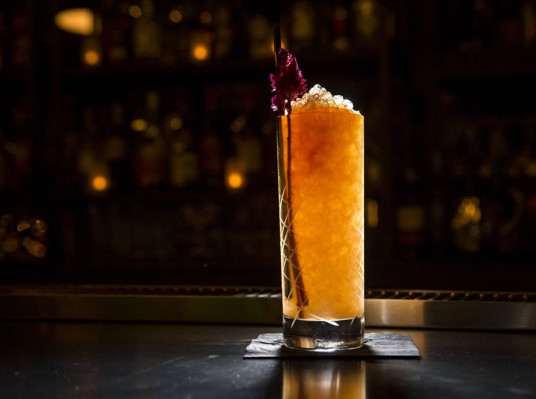 A Juniper Flats cocktail at Jammyland in Las Vegas' downtown arts district on Friday, March 30, 2018.   Patrick Connolly Las Vegas Review-Journal @PConnPie