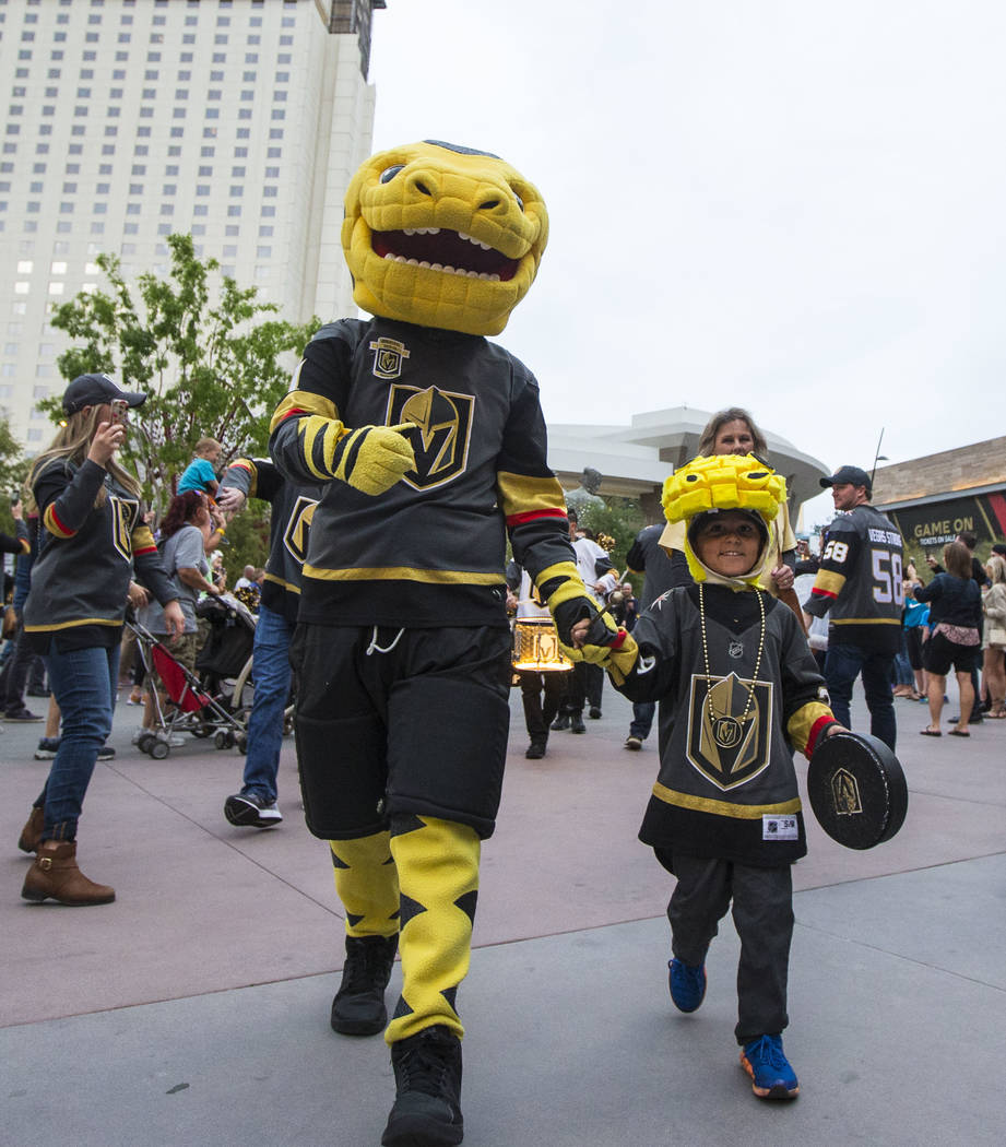 Image result for chance vegas mascot and small children