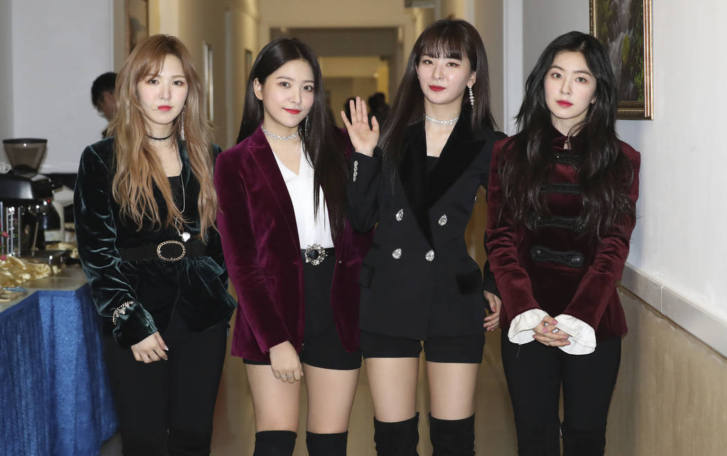 South Korean girl band Red Velvet is seen after their performance in Pyongyang, North Korea, Sunday, April 1, 2018. (Korea Pool via AP)