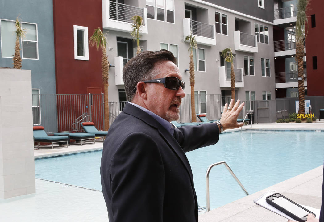 Wayne Laska, developer of the Mercer apartment complex, speaks during an interview with the Las Vegas Review-Journal on Monday, April 2, 2018, in Las Vegas.  (Bizuayehu Tesfaye/Las Vegas Review-Jo ...