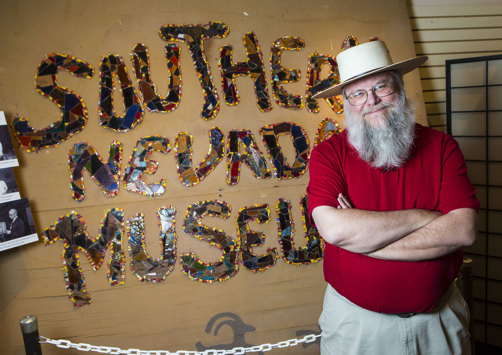"Clark County museums administrator Mark Hall-Patton at the Clark County Museum in Henderson on Wednesday, April 4, 2018. The museum is featuring an exhibition called ""50 Years of Preserving H ..."