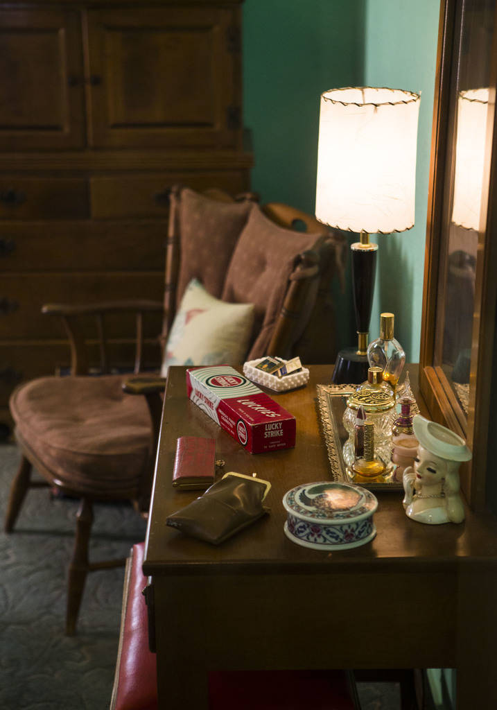 "Items in a bedroom at the Goumond house at the Clark County Museum in Henderson on Wednesday, April 4, 2018. The museum is featuring an exhibition called ""50 Years of Preserving History: Cele ..."