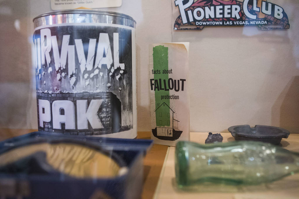 "Items related to the nuclear testing that was done in Nevada at the Clark County Museum in Henderson on Wednesday, April 4, 2018. The museum is featuring an exhibition called ""50 Years of Pre ..."
