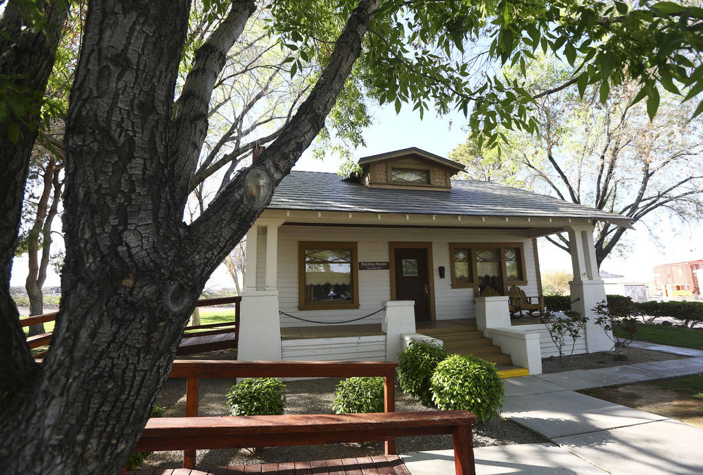 "The Beckley house on Heritage Street at the Clark County Museum in Henderson on Wednesday, April 4, 2018. The museum is featuring an exhibition called ""50 Years of Preserving History: Celebra ..."