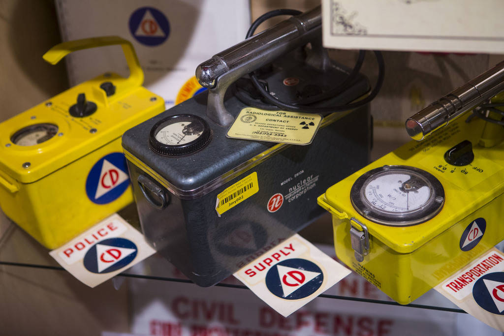 "A radiation survey meter on display at the Clark County Museum in Henderson on Wednesday, April 4, 2018. The museum is featuring an exhibition called ""50 Years of Preserving History: Celebrat ..."