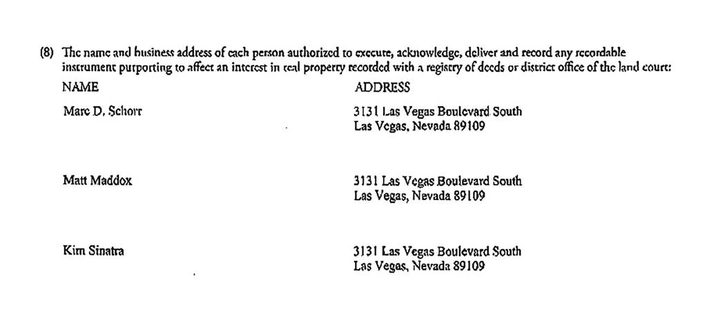 document from Jan. 17, 2013 of Wynn MA