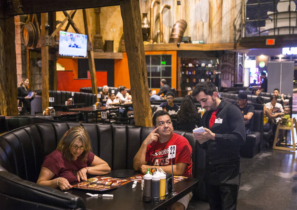 Guests enjoy dinner at Culichitown on Thursday, April 5, 2018, at Fiesta Rancho hotel-casino, in Las Vegas. Benjamin Hager Las Vegas Review-Journal @benjaminhphoto