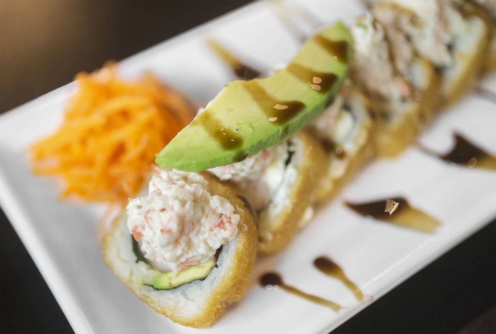 Guamuchilito roll at Culichitown on Thursday, April 5, 2018, at Fiesta Rancho hotel-casino, in Las Vegas. Benjamin Hager Las Vegas Review-Journal @benjaminhphoto