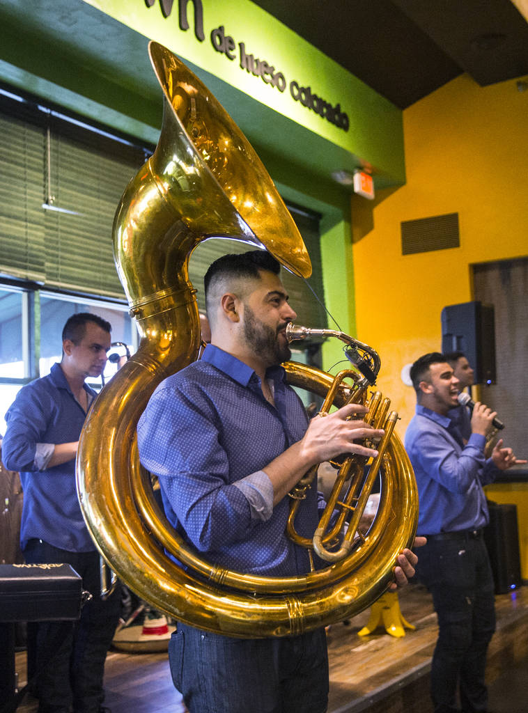 Culichitown's house band performs on Thursday, April 5, 2018, at Fiesta Rancho hotel-casino, in Las Vegas. Benjamin Hager Las Vegas Review-Journal @benjaminhphoto