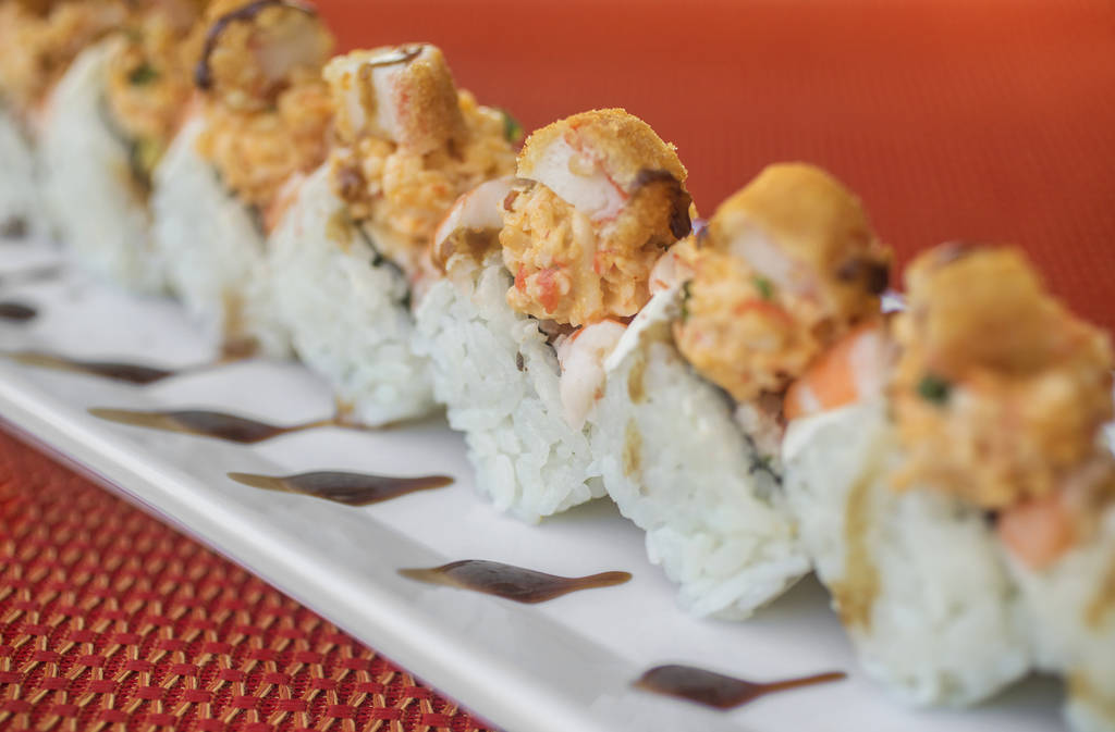 Culichitown roll at Culichitown on Thursday, April 5, 2018, at Fiesta Rancho hotel-casino, in Las Vegas. Benjamin Hager Las Vegas Review-Journal @benjaminhphoto