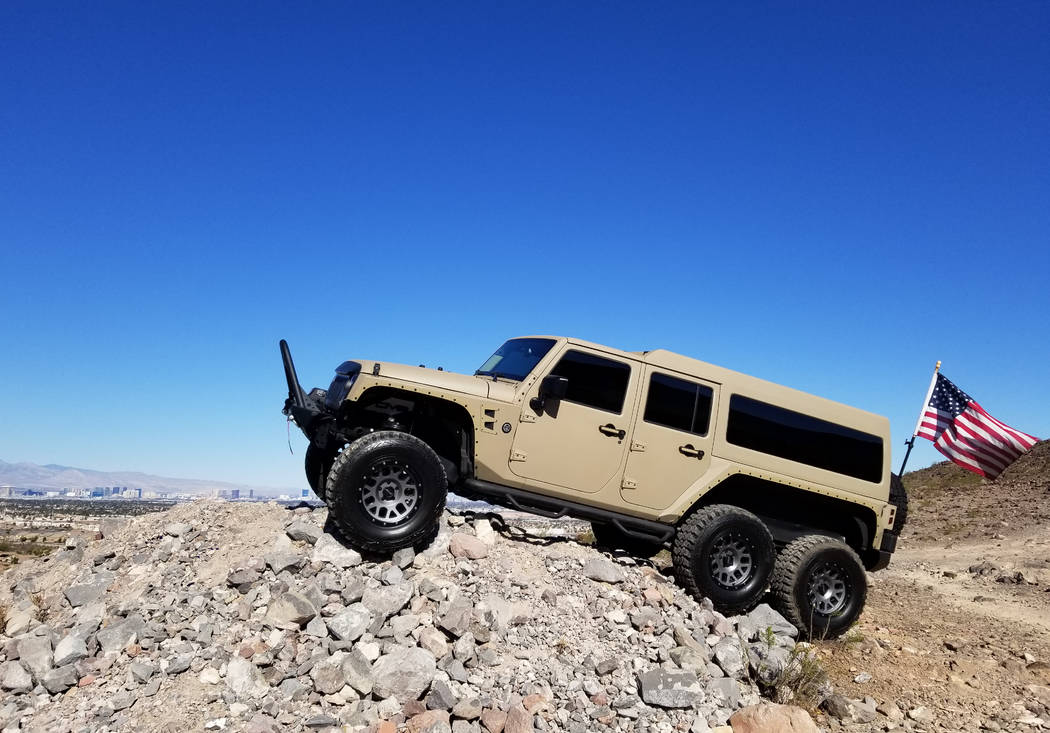 Chapman The 2017 Overland Jeep Wrangler Unlimited 6x6 is battle ready and is now available at Chapman Chrysler Jeep in the Valley Automall in Henderson.