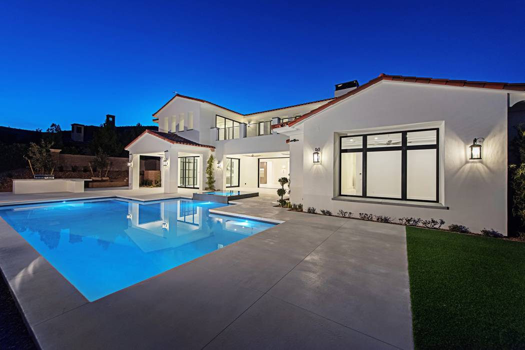 The pool is in the back of the home. (Canyon Creek Custom Homes)