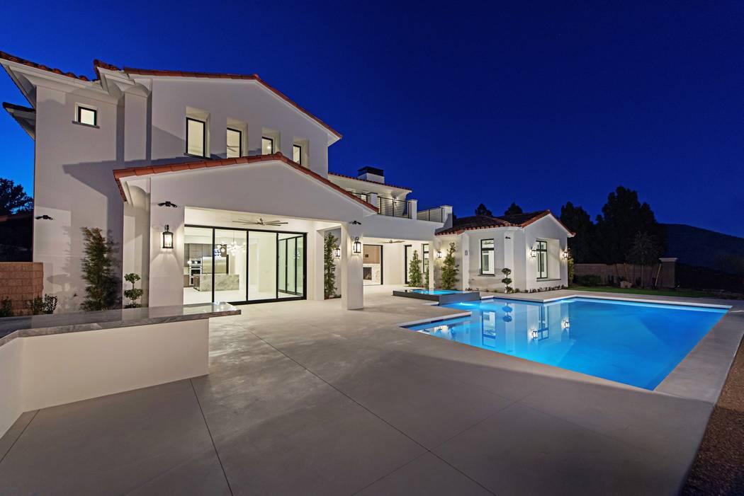 The 6,500-square-foot home has a Santa Barbara-style. (Canyon Creek Custom Homes)