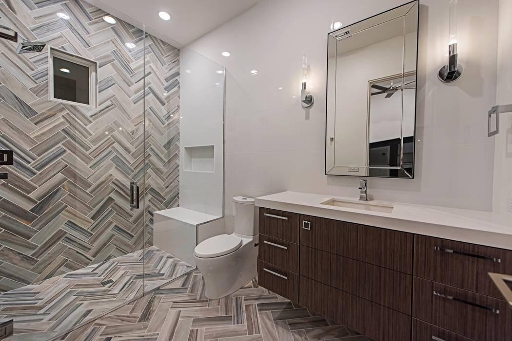 A guest bathroom. (Canyon Creek Custom Homes)
