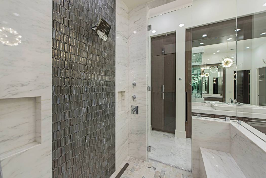 The shower in the master bath. (Canyon Creek Custom Homes)