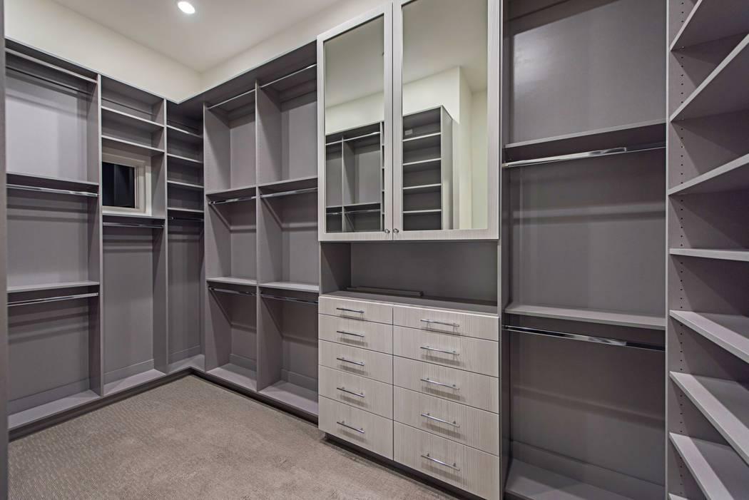 The closet. (Canyon Creek Custom Homes)