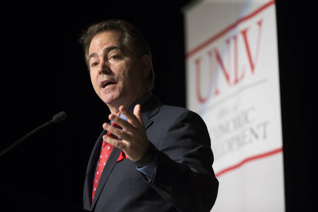 UNLV President Len Jessup during the Nevada Economic Development Conference at UNLV in Las Vegas, Tuesday, Sept. 12, 2017. Erik Verduzco Las Vegas Review-Journal @Erik_Verduzco