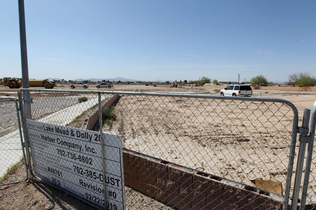 Site work is re-started on an unfinished subdivision on East Lake Mead Boulevard at Dolly Lane between Lamb and Nellis boulevards Tuesday, April 3, 2018. K.M. Cannon Las Vegas Review-Journal @KMCa ...
