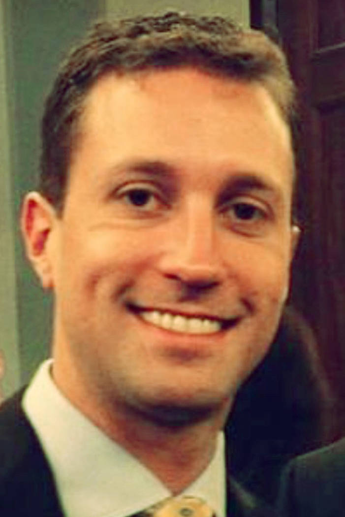 GOP consultant Benjamin Sparks is pictured in this undated photo obtained by the Las Vegas Review-Journal. Sparks is accused of sexually enslaving and battering his ex fiancee.