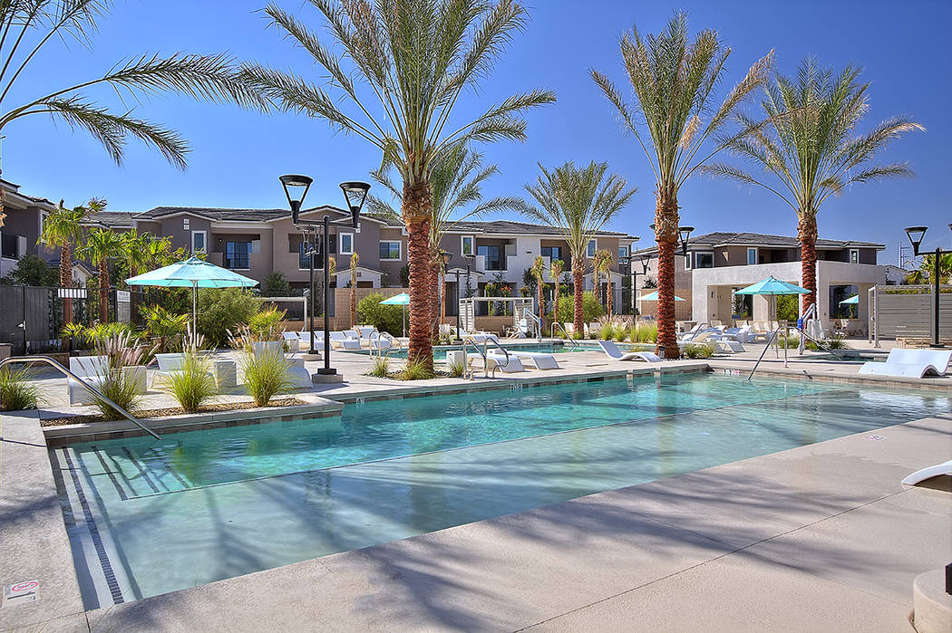 Dune, a luxury apartment in Henderson, will hold its grand opening April 26. (WestCorp Management Group)