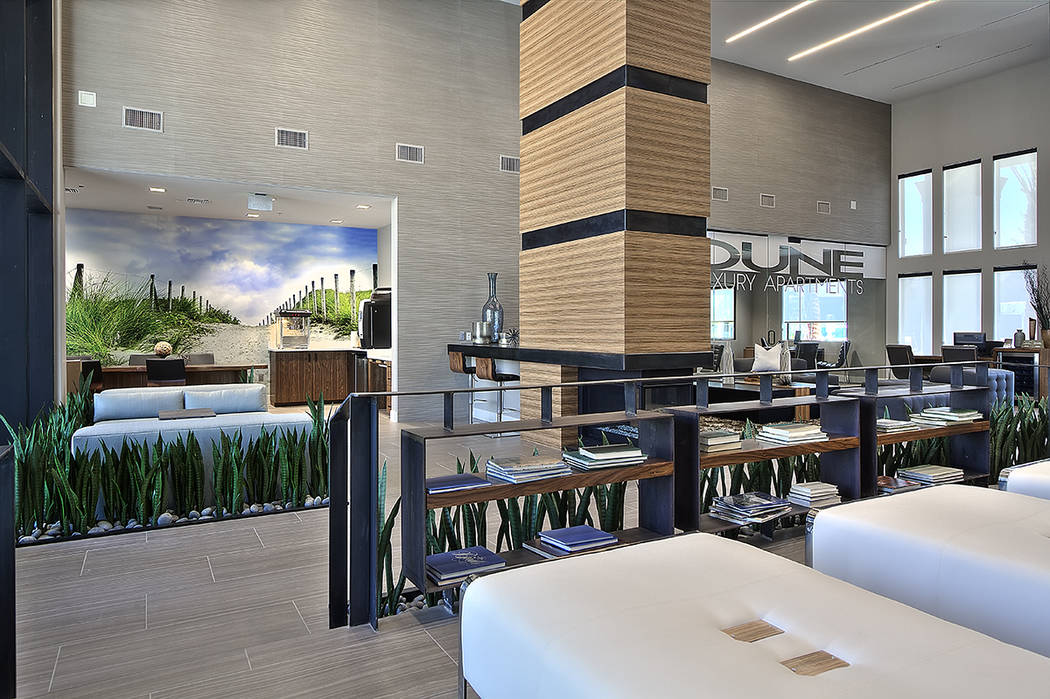 Dune, a Henderson luxury complex, offers a coffee café. (WestCorp Management Group)