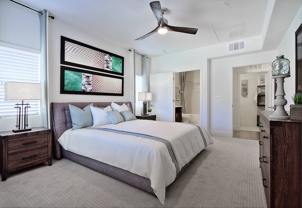 Dune's apartment homes range from carriage to three-bedroom units. (WestCorp Management Group)