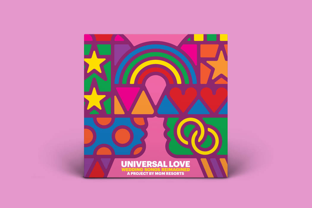 """Universal Love,"" a collection of six newly recorded love songs that have been adjusted for same-sex couples, is out now. (MGM Resorts International)"