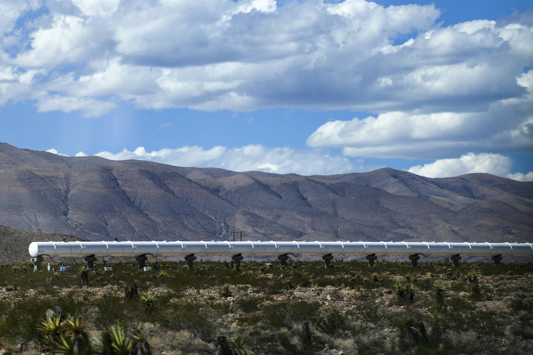 Hyperloop One at the Apex Industrial Complex in Moapa, Tuesday, Sept. 12, 2017. Joel Angel Juarez Las Vegas Review-Journal @jajuarezphoto