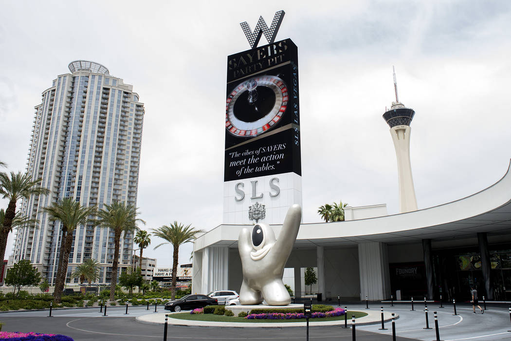 SLS Las Vegas, located near the intersection of West Sahara Avenue and South Las Vegas Boulevard, is pictured on Wednesday, May 31, 2017 in Las Vegas.  (Las Vegas Review-Journal)