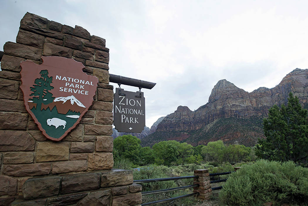 Zion National Park is seen near Springdale, Utah, in 2015. (AP Photo/Rick Bowmer)