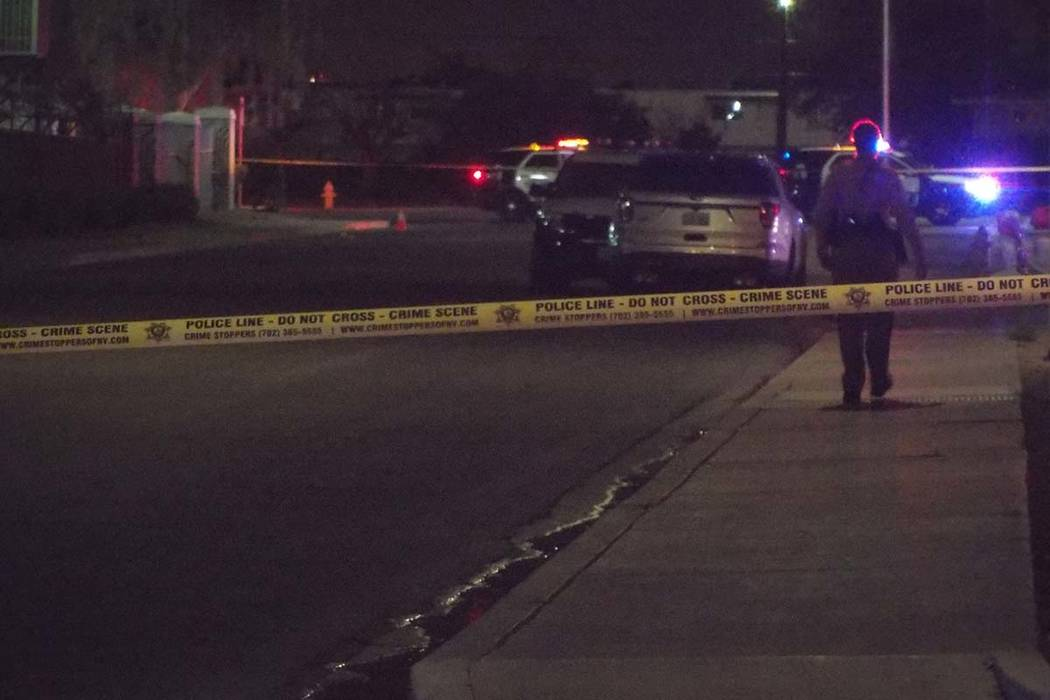 A shooting was reported about 1:45 a.m. on McWilliams Avenue, near Martin Luther King Boulevard and Bonanza Road, according to Las Vegas police.