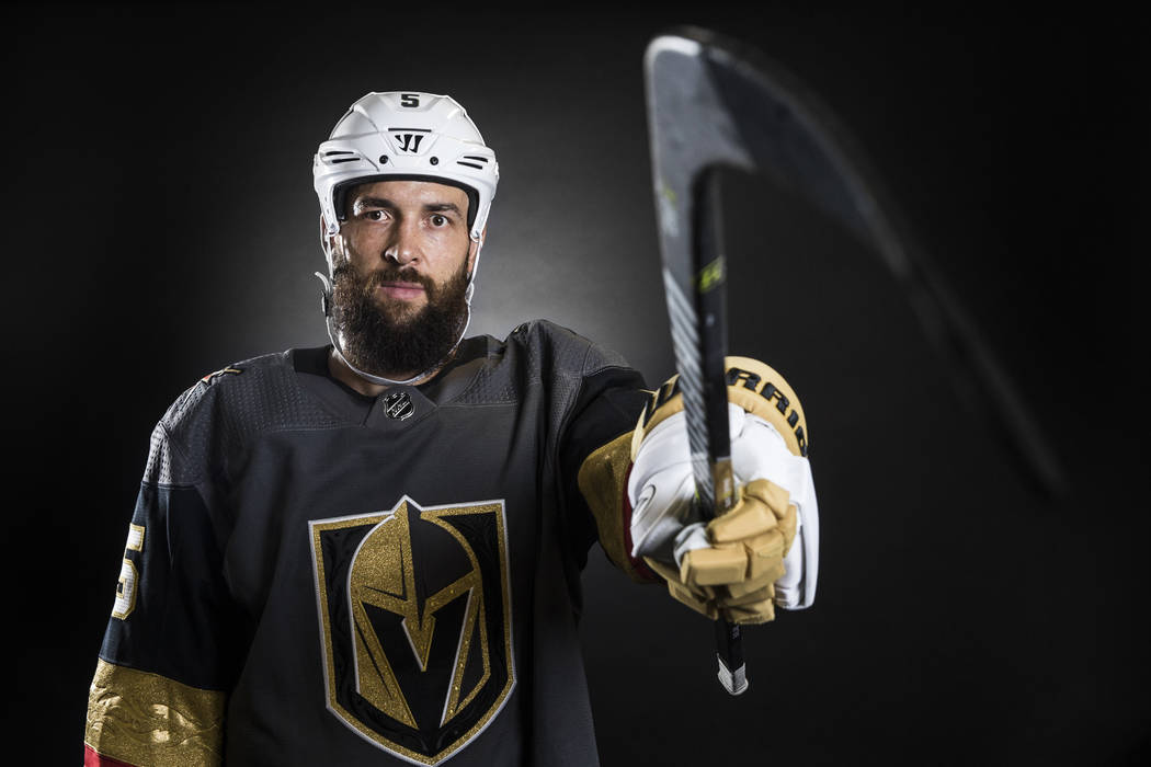 Golden Knights defenseman Deryk Engelland at City National Arena on Thursday, September 14, 2017,  in Las Vegas. Benjamin Hager Las Vegas Review-Journal @benjaminhphoto