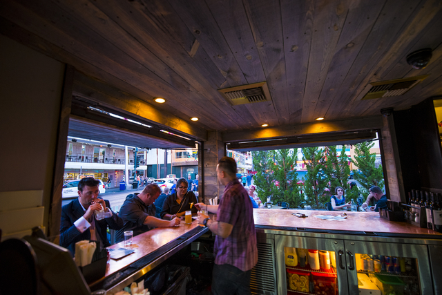 The bar inside Park on Fremont located in downtown Las Vegas on Friday, June 5, 2015. (Joshua Dahl/Las Vegas Review-Journal)