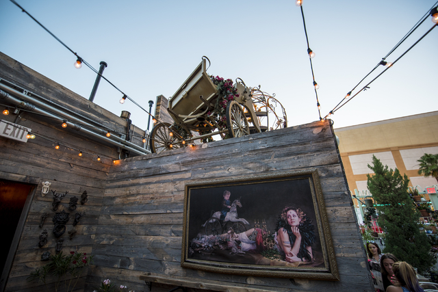 Park on Fremont in downtown Las Vegas has a unique selection of decor on Friday, June 5, 2015. (Joshua Dahl/Las Vegas Review-Journal)