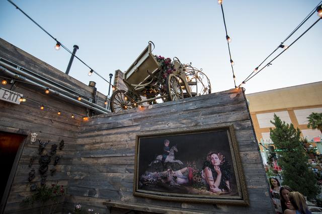Park on Fremont in downtown Las Vegas has a unique selection of decor on Friday, June 5, 2015. (Joshua Dahl/Las Vegas Review-Journal)