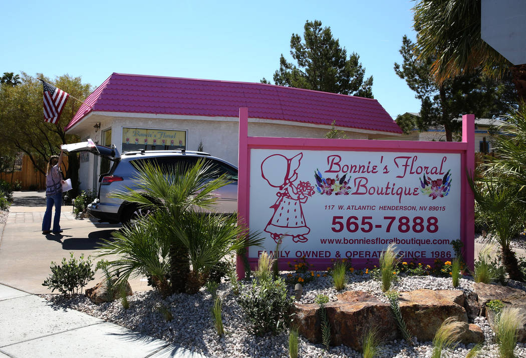Bonnie's Floral at the corner of Atlantic Avenue and Zinc Street on Wednesday, April 25, 2018, in Henderson. Bizuayehu Tesfaye/Las Vegas Review-Journal @bizutesfaye