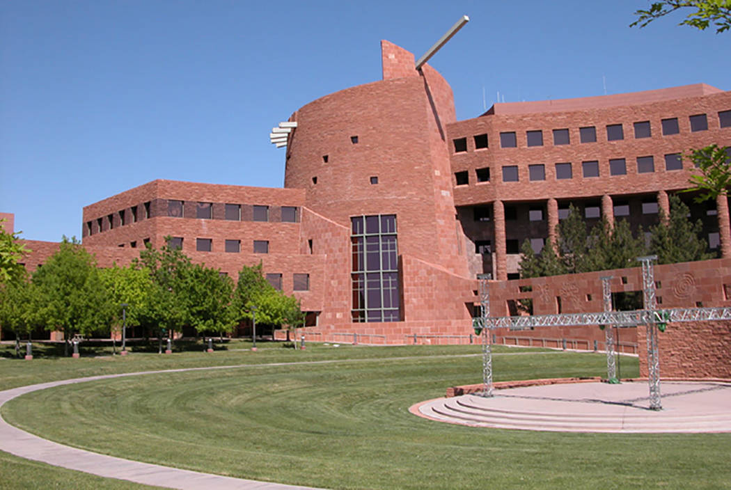 The Clark County Government Center campus on South Grand Central Parkway in Las Vegas. (Las Vegas Review-Journal file)