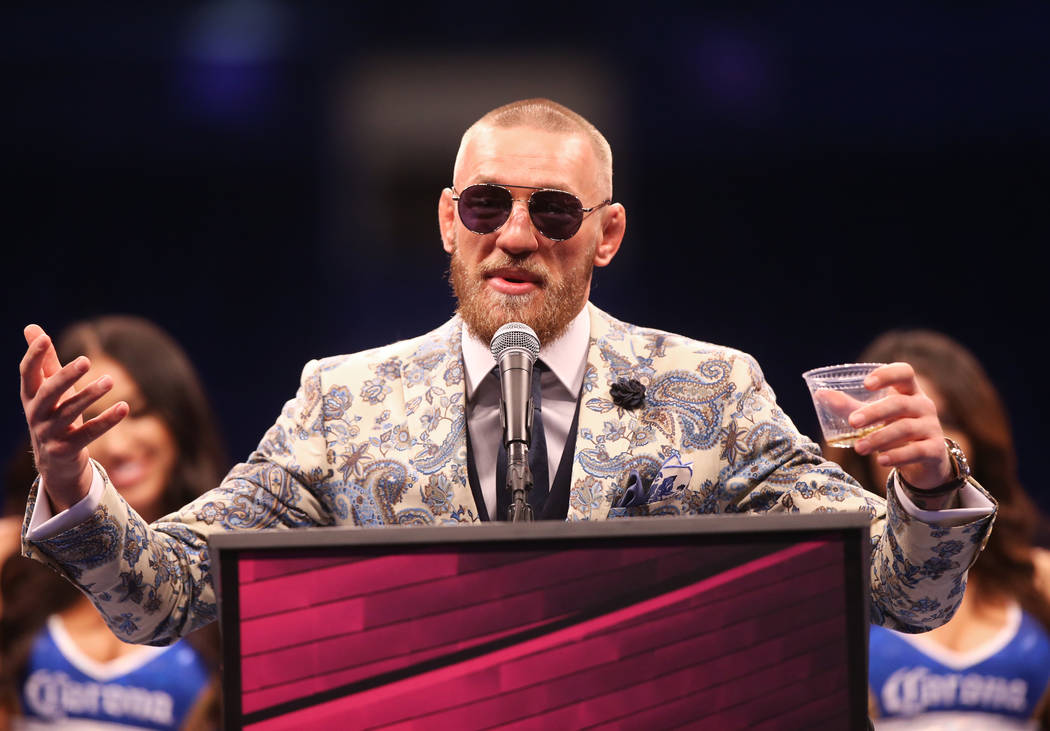 Conor McGregor addresses the media after his loss to Floyd Mayweather on Saturday, Aug 26, 2017, at T-Mobile Arena, in Las Vegas. Benjamin Hager Las Vegas Review-Journal @benjaminhphoto